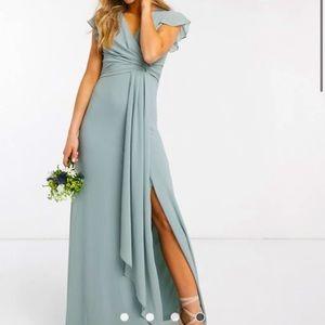ASOS sage maxi dress